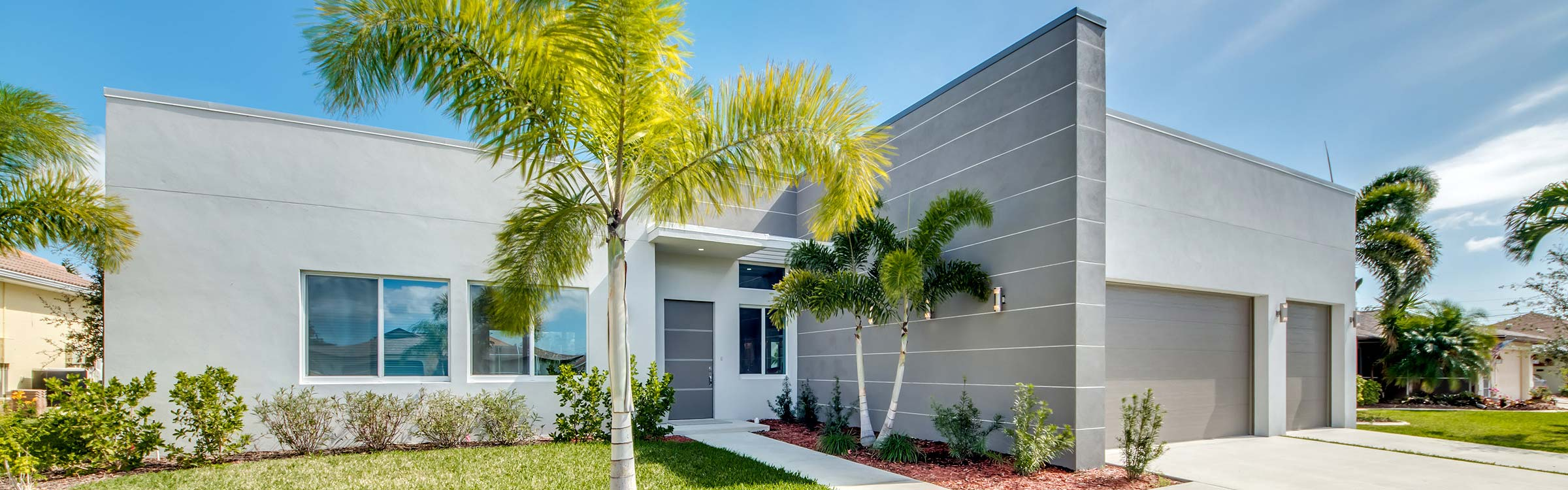New construction in Cape Coral, Fort Myers, Florida - Construction planning